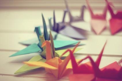 第一次折纸鹤